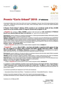 Premio Carlo Urbani 2018